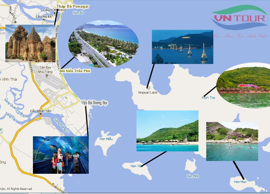 Bản đồ du lịch Nha Trang đơn giản mà hiệu quả