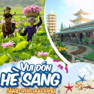 Tour du lịch hè miền Tây 2N2Đ: Châu Đốc - Đồng Tháp