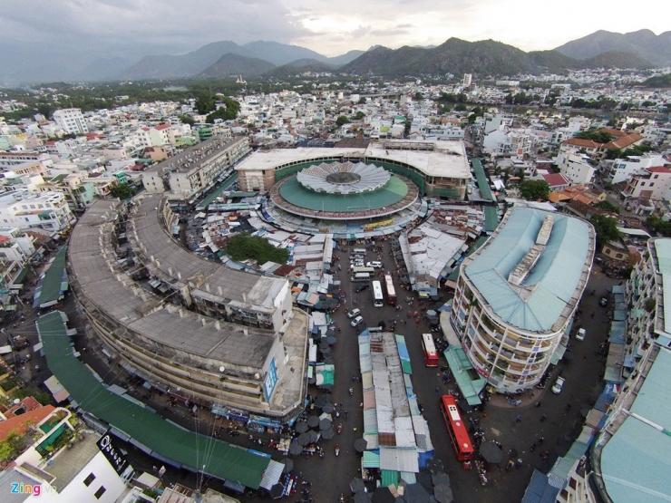 Toàn cảnh chợ Đầm nhìn từ trên cao