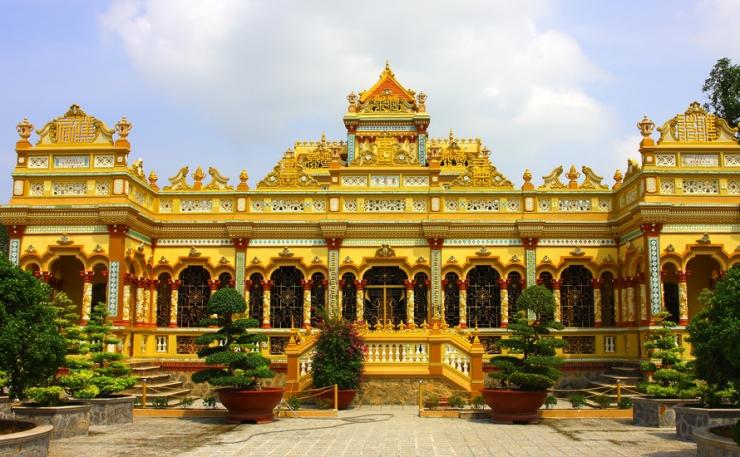 chùa Vĩnh Tràng - Tour du lịch Tiên Giang - Cần Thơ 2 ngày 1 đêm
