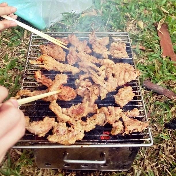 nấu ăn tại khu du lịch bữu long