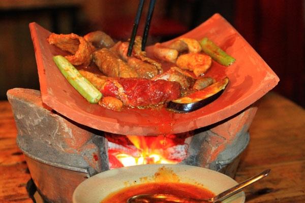 thịt nướng ngói - món ngon đà lạt