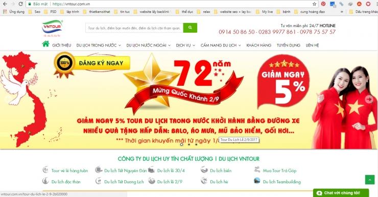 website công ty du lịch uy tín