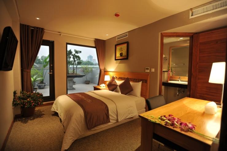 Phòng ngủ khách sạn Atlantic