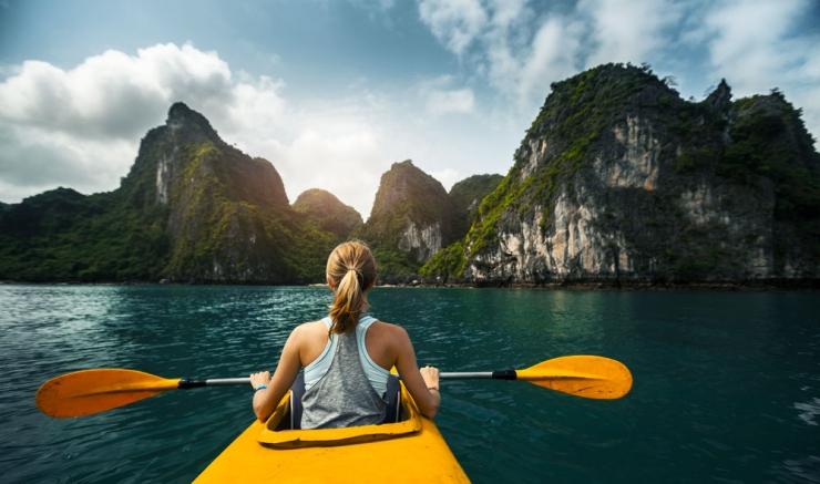 Chèo thuyền kayak_vntour