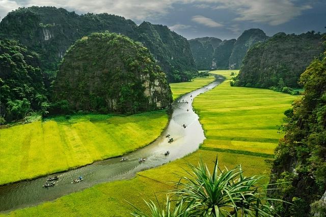 Phong cảnh ở Tam Cốc, Ninh Bình. Ảnh: Internet