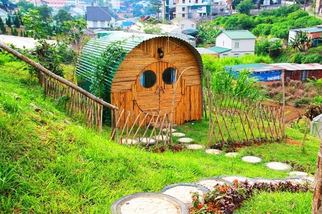 Lối xây dựng vô cùng bắt mắt của Hobbit Hostel Đà Lạt