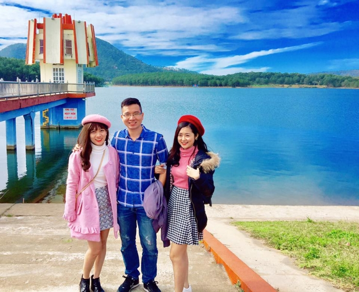 Checkin tại hồ Tuyền Lâm