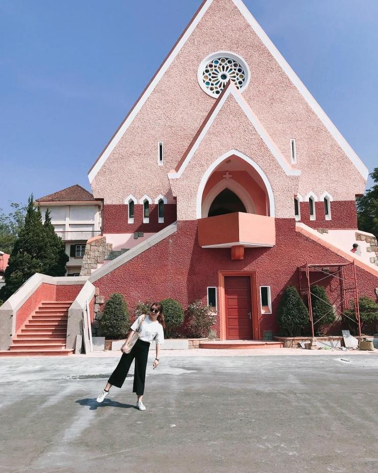 Checkin tại nhà thờ Domaine de Marie Đà Lạt