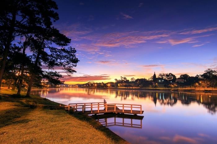 Một góc Hồ Xuân Hương giữa trời thu Đà Lạt