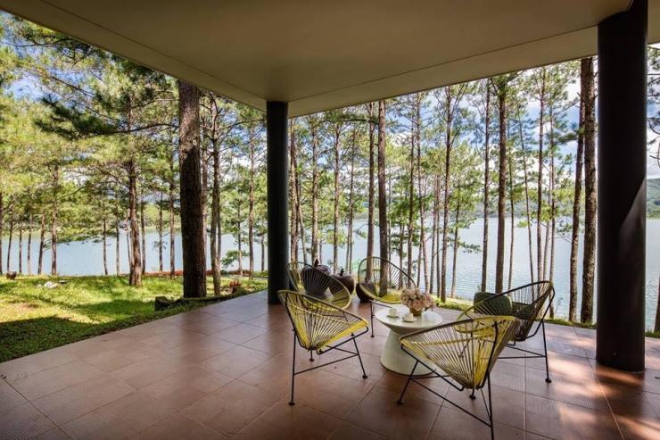 Một góc không gian của khu nghỉ dưỡng Terracotta Đà Lạt