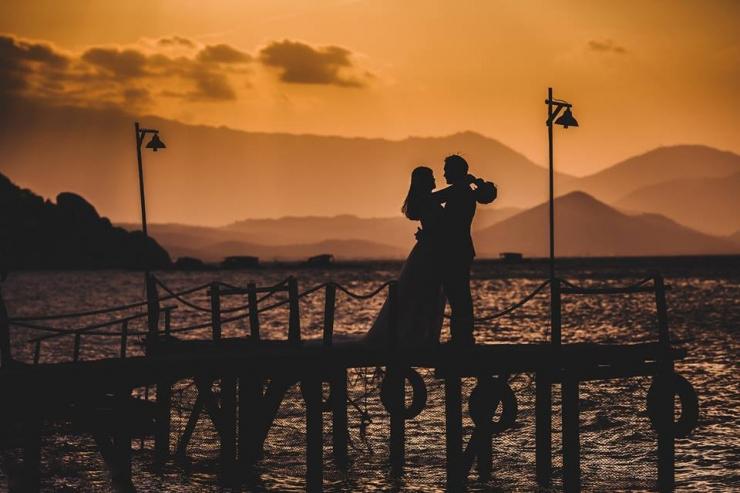 Chụp ảnh cưới trên đảo Bình Lập