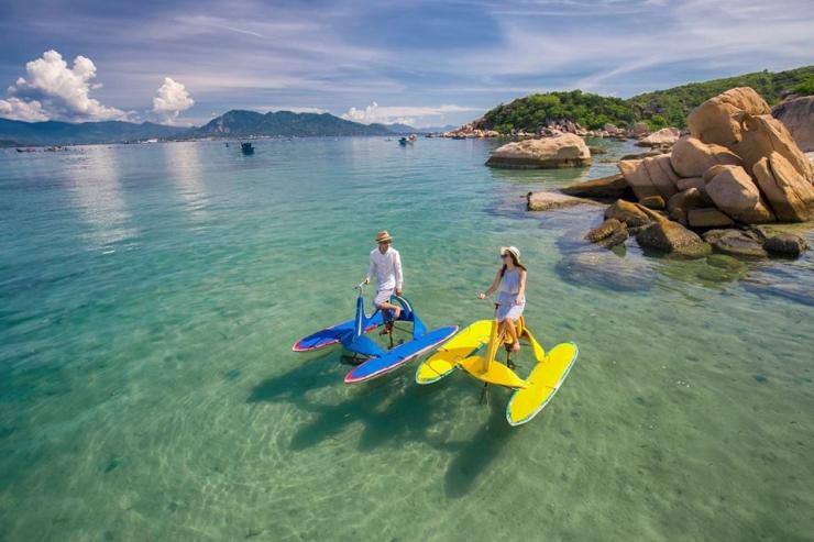 Đạp xe trên biển