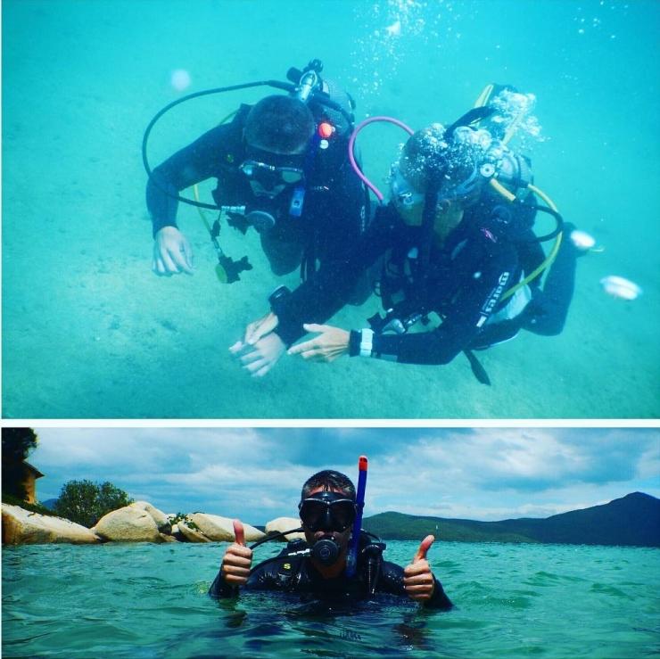 Nước ở đảo Hòn Ông vô cùng sạch và trong, các bạn có thể lặn biển ở vùng nước nông với snorkeling, chỉ cần ống thở và hai chân vịt là khám phá được khu vực gần bờ