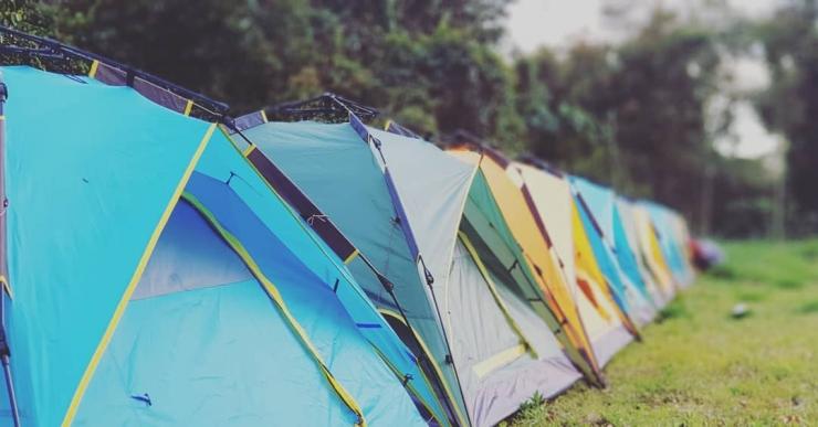Cắm trại trong khuôn viên Hoa Sơn Điền Trang Đà Lạt
