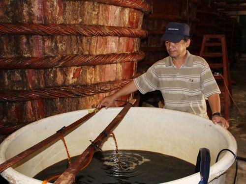 Quá trình sản xuất nước mắm làm từ cá cơm