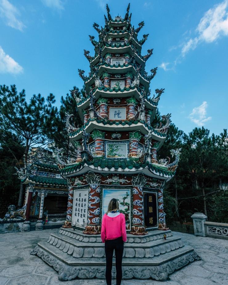 Checkin tại chùa Linh Sơn Đà Lạt