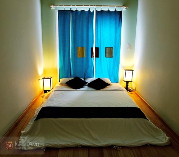 Căn phòng được thiết kế kiểu Nhật