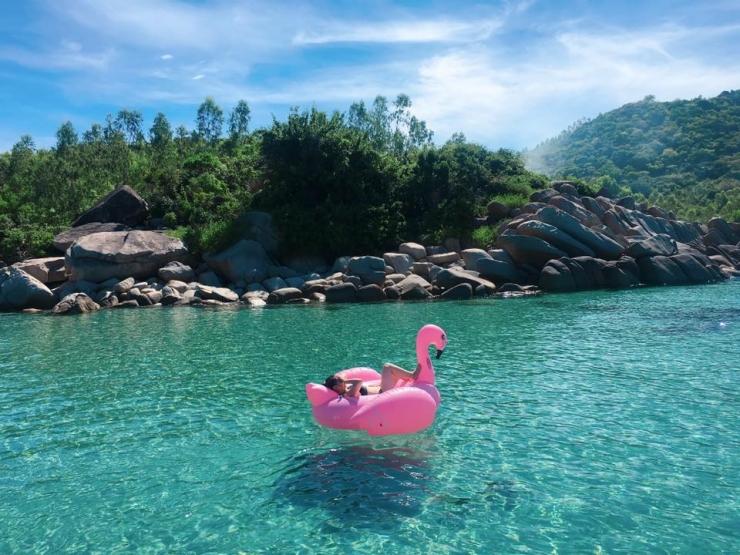 Checkin trên đảo Bình Ba