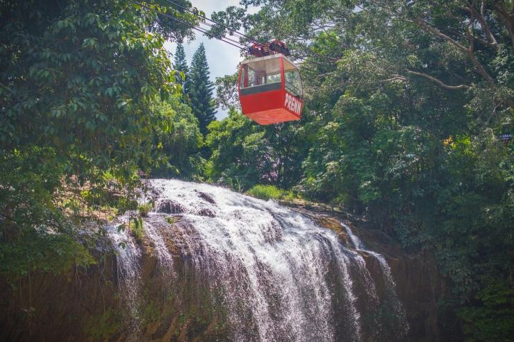 Hệ thồng cáp treo trong thác Prenn Đà Lạt
