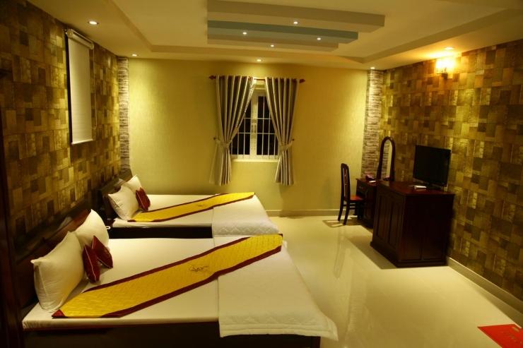 Không gian phòng ngủ khách sạn Minh Kiều