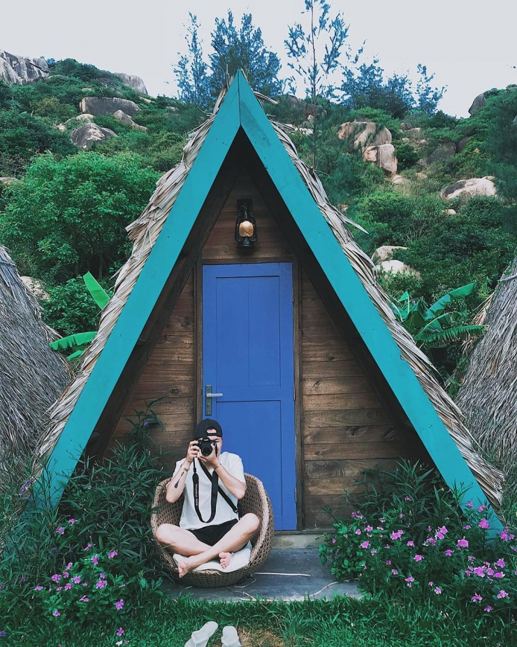 Căn lều nhỏ tại khu dã ngoại Trung Lương