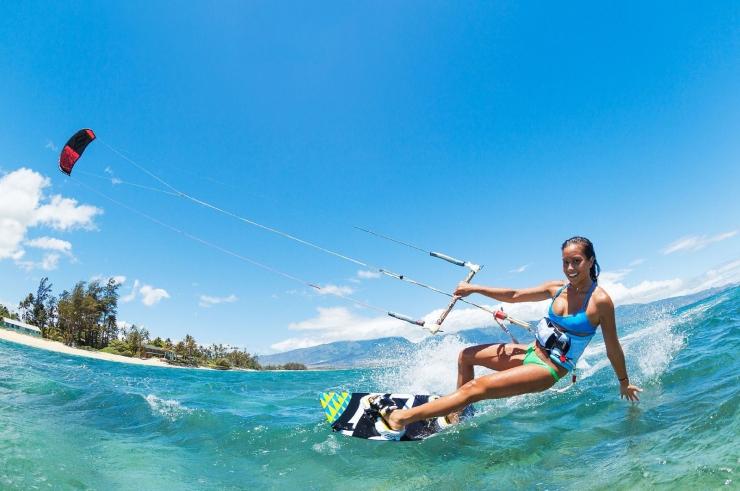 Lướt ván diều trên biển Vũng Tàu