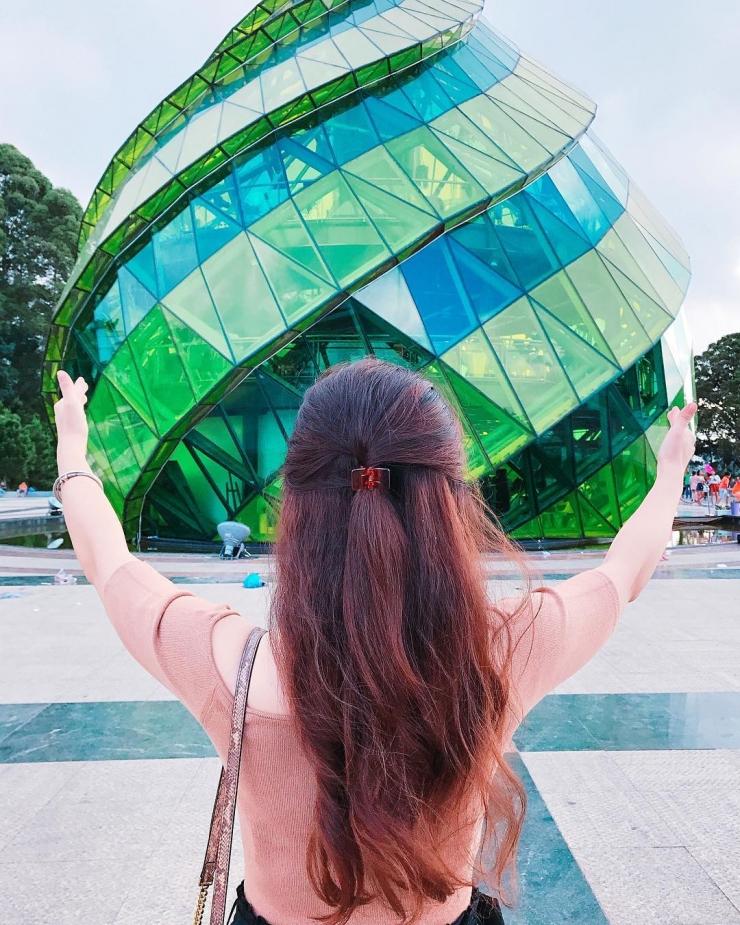 Checkin tại quảng trường Lâm Viên Đà Lạt
