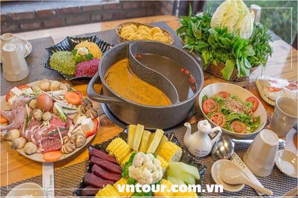 tour đà lạt buffet rau