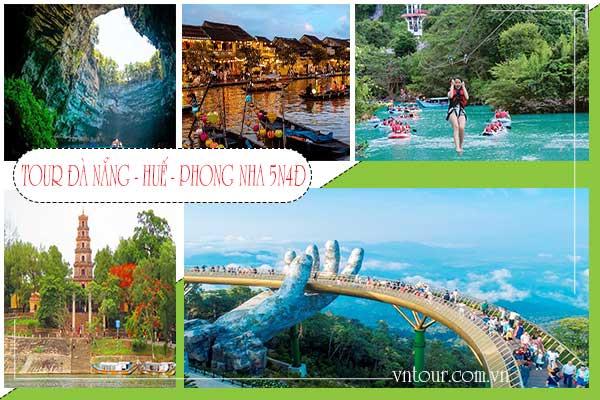 Tour du lịch Đà Nẵng 5 ngày 4 đêm Bà Nà Hills - Huế - động Phong Nha