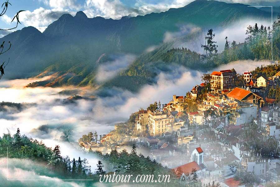 Tour du lịch Sapa 4 ngày 3 đêm khuyến mãi: Ô Quy Hồ - Cầu Kính Rồng Mây