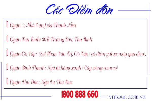 Điểm đón tour Nha Trang Đà Lạt