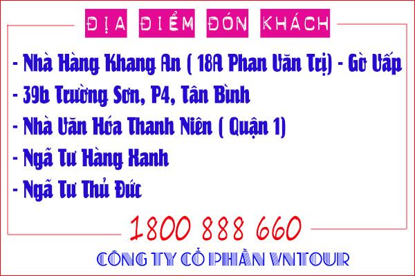 Điểm đón tour Nha Trang Đà Lạt tết