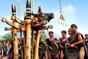 Độc đáo Lễ hội đâm trâu của những dân tộc Tây Nguyên.
