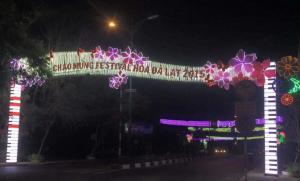 """""""Con đường hoa điện"""" dành cho  Festival Hoa  Đà Lạt 2015"""