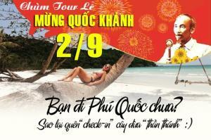 Tour du lịch Phú Quốc 3 ngày 3 đêm Lễ Quốc Khánh 2/9/2017