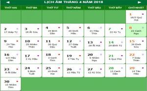 Lịch nghỉ lễ Giỗ Tổ Hùng Vương và 30 tháng 4 - 1 tháng 5 2018