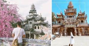 Ngắm chùa Linh Phước Đà Lạt với kiến trúc ve chai độc đáo
