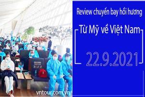 Review chuyến bay hồi hương từ Mỹ về Việt Nam ngày 22.9